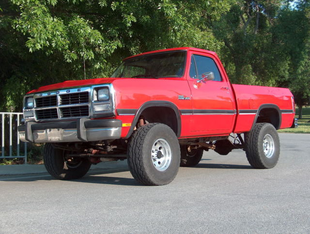 1991 dodge power ram 150 4x4 sunny california truck for sale dodge other pickups power ram. Black Bedroom Furniture Sets. Home Design Ideas