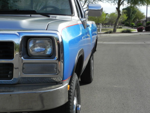 1991 Dodge Power Ram W250 2500 Le 4x4 12v Cummins For Sale