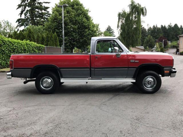 1991 dodge ram w250 reg cab le 5 speed 5 9 39 l 12 valve cummins diesel 94k miles for sale dodge. Black Bedroom Furniture Sets. Home Design Ideas