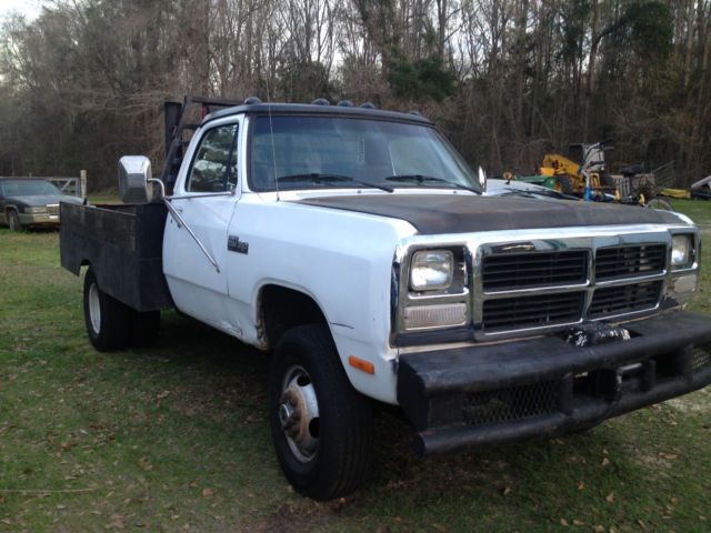 1991 dodge w350 flatebed truck diesel 4x4 5 speed for sale dodge other 1991 for sale in. Black Bedroom Furniture Sets. Home Design Ideas
