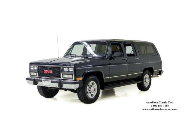 1991 gmc suburban 152981 miles midnight blue metallic suv 8 cylinder engine 7 4 for sale gmc. Black Bedroom Furniture Sets. Home Design Ideas