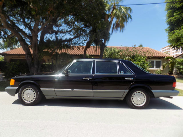 1991 Mercedes 420 Sel 1 Owner Car With 46 K Miles Black On Black Fully Serviced For Sale Mercedes Benz 400 Series 1991 For Sale In Fort Lauderdale Florida United States