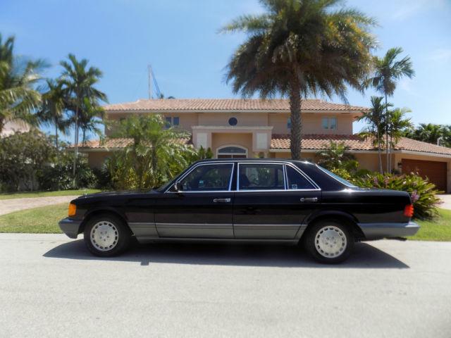1991 Mercedes 420 Sel 1 Owner Car With 46 K Miles Black On Black