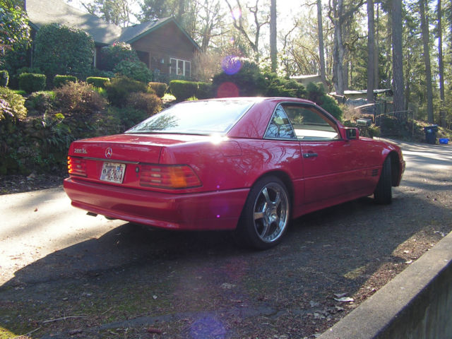 1991 mercedes benz 300sl r129 signal red new top 128k for Custom mercedes benz for sale