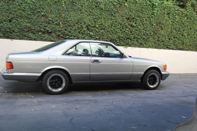 1991 mercedes benz 560sec 117000 miles silver with blue for Mercedes benz sherman oaks