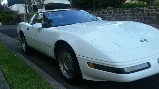 1991 zr1 corvette no reserve white factory stock. Black Bedroom Furniture Sets. Home Design Ideas