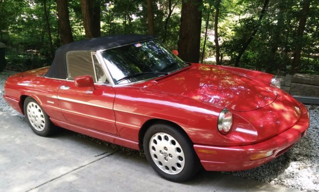 1992 alfa romeo spider veloce convertible low miles 2 0l for sale alfa romeo spider veloce. Black Bedroom Furniture Sets. Home Design Ideas