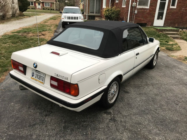 1992 bmw 325i convertible 2 door 2 5l white 120k for. Black Bedroom Furniture Sets. Home Design Ideas