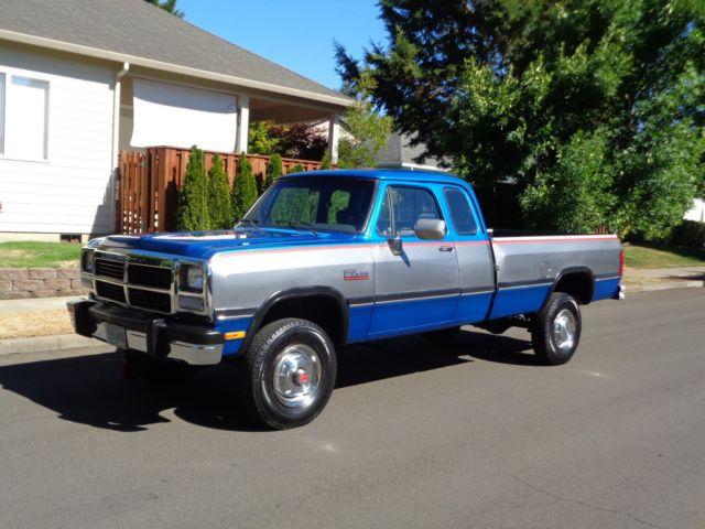 1992 dodge ram d250 2500 w250 4x4 cummins diesel low miles 1993 1991 1990 1989 for sale dodge. Black Bedroom Furniture Sets. Home Design Ideas