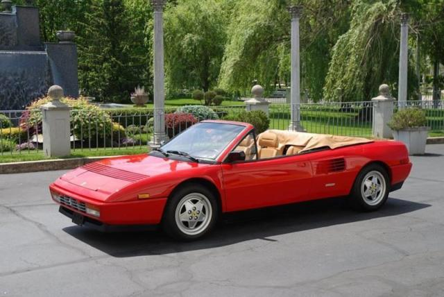 1992 ferrari mondial t cabriolet 6 950 miles red. Black Bedroom Furniture Sets. Home Design Ideas