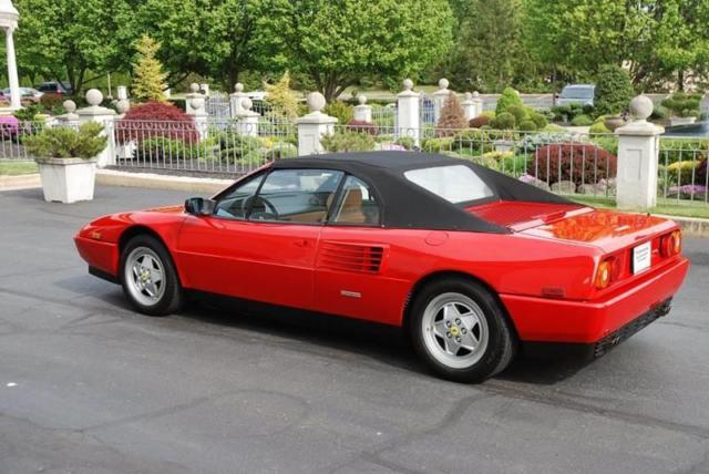 1992 ferrari mondial t cabriolet 6 950 miles red convertible other 8 cylinder. Black Bedroom Furniture Sets. Home Design Ideas