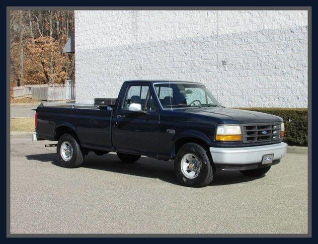 1992 ford f 150 north carolina pick up truck 8 ft bed navy blue pickup truck 4 9 for sale ford. Black Bedroom Furniture Sets. Home Design Ideas