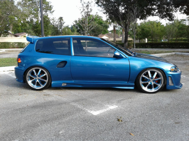 1992 Honda Civic DX Hatchback Integra GSR Motor Turbo ...