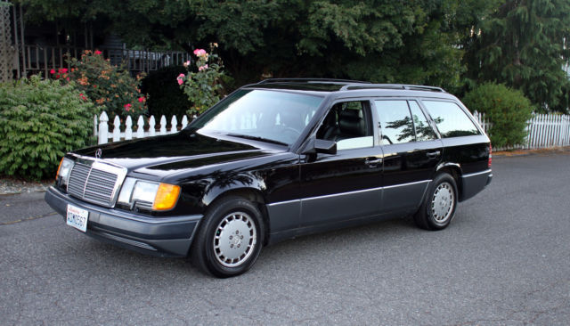 1992 Mercedes 300te Estate Wagon Rare Black With Black Leather Low Miles For Sale Mercedes