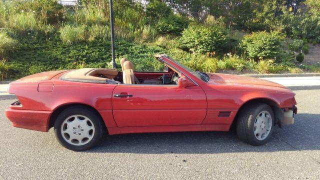 1992 mercedes benz 500sl convertible not running for for Mercedes benz sl coupe for sale