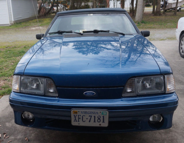 1992 mustang gt convertable 5 0 ho fox body for sale ford mustang 1992 for sale in manquin. Black Bedroom Furniture Sets. Home Design Ideas