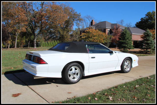 1992 Z28 Camaro Convertible Restored 1 Of 1254 Made For