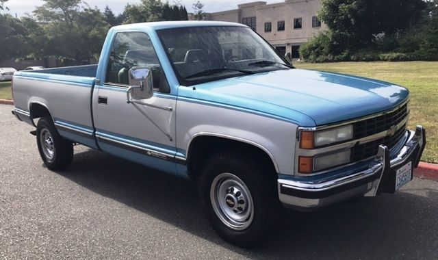1993 chevy silverado 2500 454 single cab long bed gas three quarter ton 3 4 ton for sale. Black Bedroom Furniture Sets. Home Design Ideas
