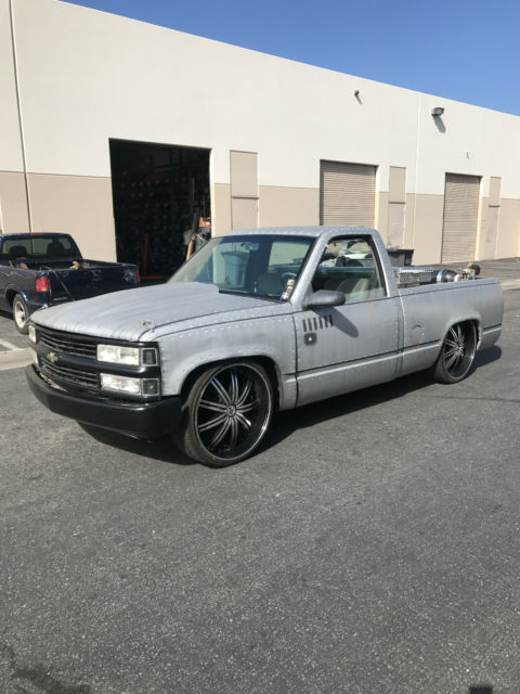 1993 chevy silverado c1500 bagger custom slammed bagged no reserve regular cab for sale. Black Bedroom Furniture Sets. Home Design Ideas