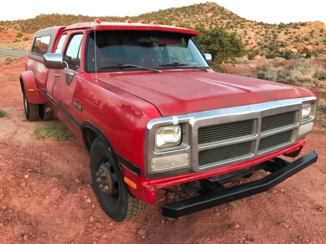 1993 dodge cummins ram d350 le dually 5 speed intercooled 5 9 12 valve diesel for sale dodge. Black Bedroom Furniture Sets. Home Design Ideas