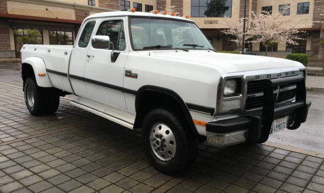 Dodge Ram W X Cummins Diesel Ton Dually K on 1989 Dodge Dually