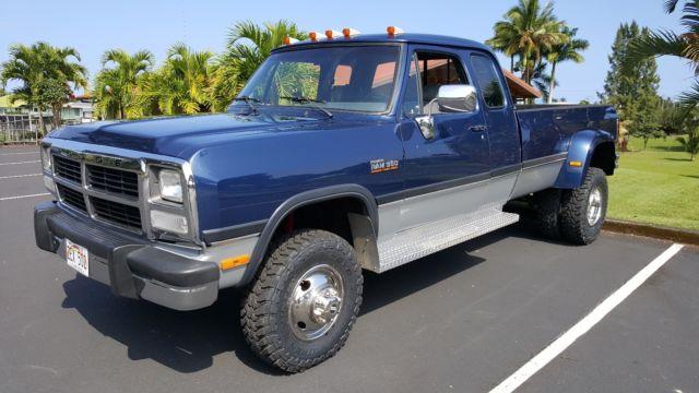 1993 Dodge Ram W350 Extended Cab 4x4 Cummins Diesel Manual 5 Speed