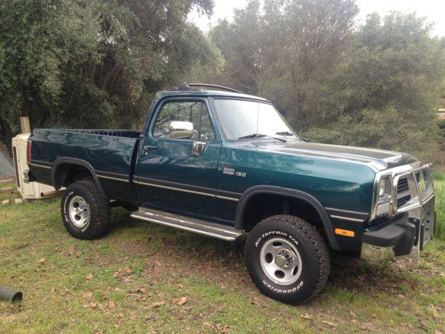 1993 Dodge W100 Short Bed 4x4 Original Paint Rust Free Low