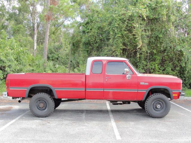 1993 Dodge W250 Power Ram Cummins 5 9 Diesel 4wd 4x4