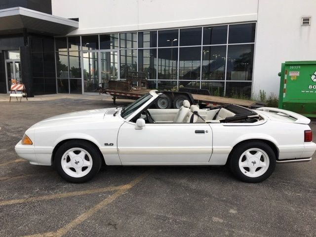 1993 Ford Mustang Lx 79680 Miles Vanilla Ice White 2d