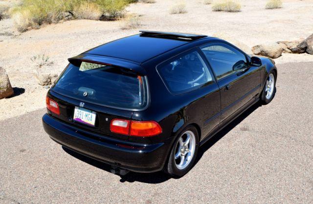 1993 honda civic si 3 door hatchback custom built vtec. Black Bedroom Furniture Sets. Home Design Ideas