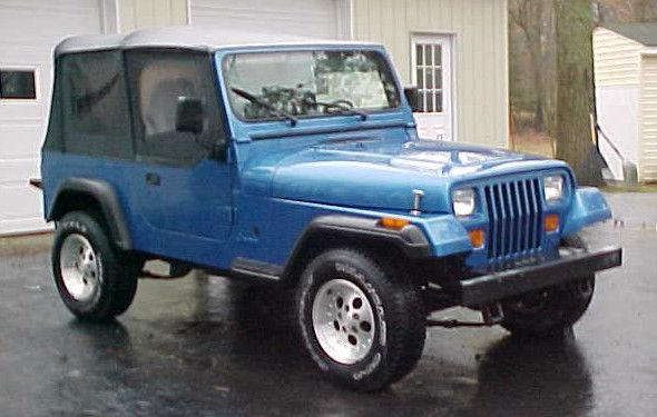 1993 jeep wrangler yj royal blue 2 door soft top 4x4 convertible for sale jeep wrangler 1993. Black Bedroom Furniture Sets. Home Design Ideas