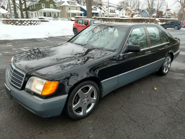 1993 mercedes 300sd turbo diesel w140 big body black 157k for Mercedes benz henrietta ny