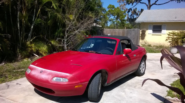 1993 red mazda miata coupe convertible for sale mazda mx 5 miata sx5. Black Bedroom Furniture Sets. Home Design Ideas