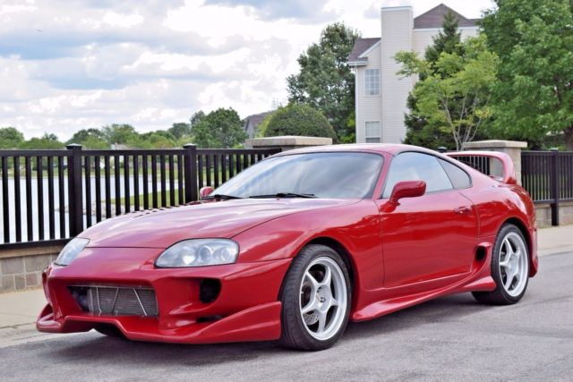 1993 TOYOTA SUPRA TWIN TURBO 6SPD MANUAL RENAISSANCE RED/TAN VEILSIDE HKS SP for sale - Toyota ...