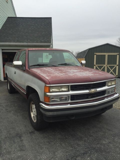 1994 chevrolet silverado 1500 z71 extended cab 4wd pickup truck for sale chevrolet c k pickup. Black Bedroom Furniture Sets. Home Design Ideas