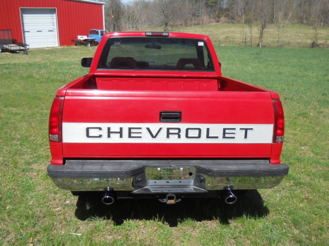 1994 chevy c1500 short bed pickup rust free georgia truck red on red for sale chevrolet c k. Black Bedroom Furniture Sets. Home Design Ideas