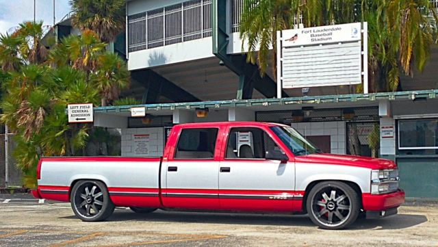 1994 Chevy crew cab 3500 lowered 22s/24s sema 454 big block super