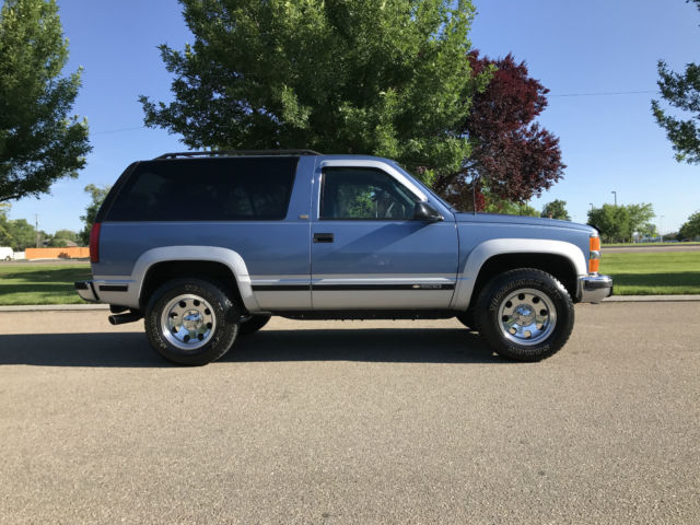 1994 chevy k1500 blazer 2 door 5 7l 350 v 8 with only actual miles for sale chevrolet. Black Bedroom Furniture Sets. Home Design Ideas