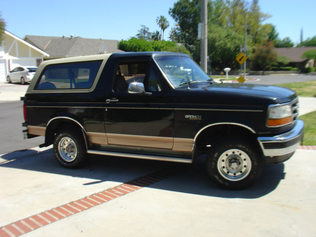 1994 ford bronco eddie bauer black original truck 1995 1996 1993 1992 for sale ford bronco. Black Bedroom Furniture Sets. Home Design Ideas