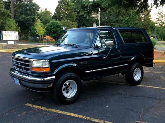 1994 ford bronco xlt 4x4 2dr suv leather int 39 5 8 39 liter 351 v8 engine rust free for sale ford. Black Bedroom Furniture Sets. Home Design Ideas
