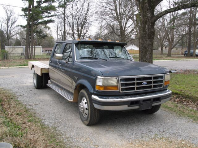 Ford F L Powerstroke Diesel Dually Wwooden Flatbed Manual Trans on 7 3 Powerstroke Cylinder Location