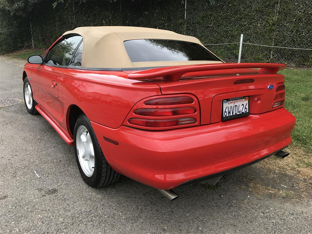 1994 ford mustang 160 000 miles red v8 automatic for sale. Black Bedroom Furniture Sets. Home Design Ideas