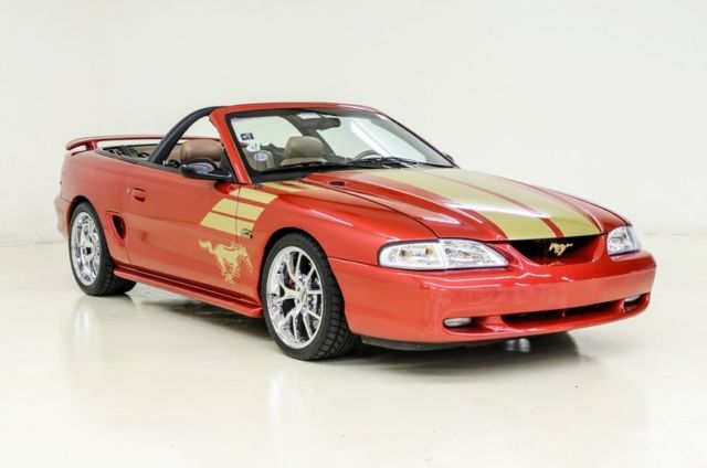 1994 ford mustang gt gold edition 136446 miles laser red convertible 5 0 liter for sale ford. Black Bedroom Furniture Sets. Home Design Ideas