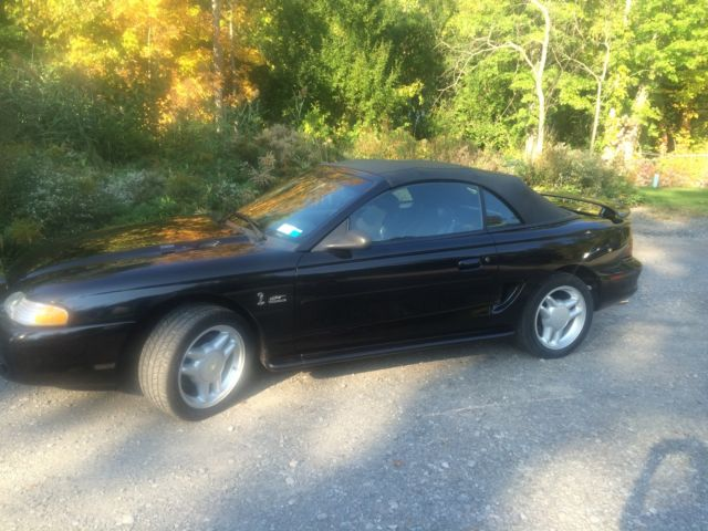 1994 ford mustang gt triple black convertible for sale ford mustang gt 1994 for sale in grand. Black Bedroom Furniture Sets. Home Design Ideas