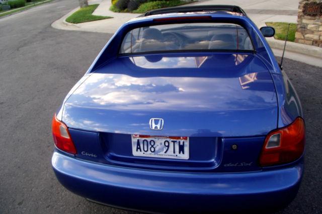 Honda Dealership Utah >> 1994 Honda Del Sol 1.6L (DOHC VTEC) No Reserve! 63,331 Original Miles! for sale - Honda Del Sol ...