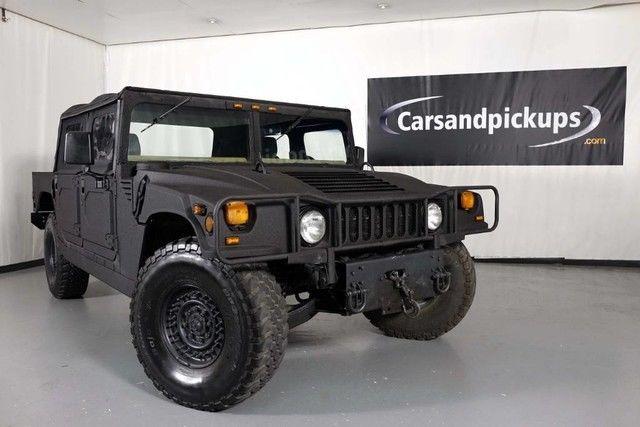 1994 hummer h1 open top 40 072 miles black kevlar pickup truck 6 5l diesel autom for sale. Black Bedroom Furniture Sets. Home Design Ideas