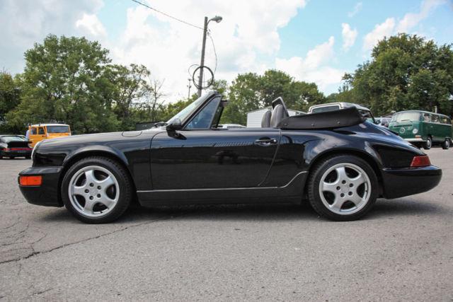1994 Porsche 911 964 C2 Cabriolet 5 Speed Black Gray K In