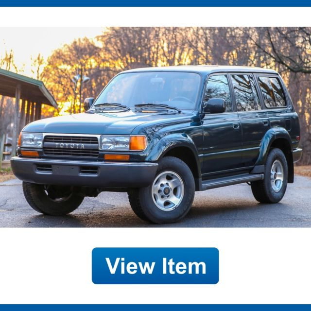 1994 toyota land cruiser 1 owner 4wd 3rd row seat suv low 130k mi fj80 for sale toyota land. Black Bedroom Furniture Sets. Home Design Ideas