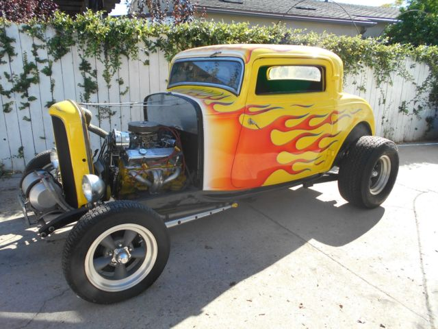32 real henry 1932 ford coupe 3 window rat hot rod gasser for 1932 ford 3 window coupe chassis