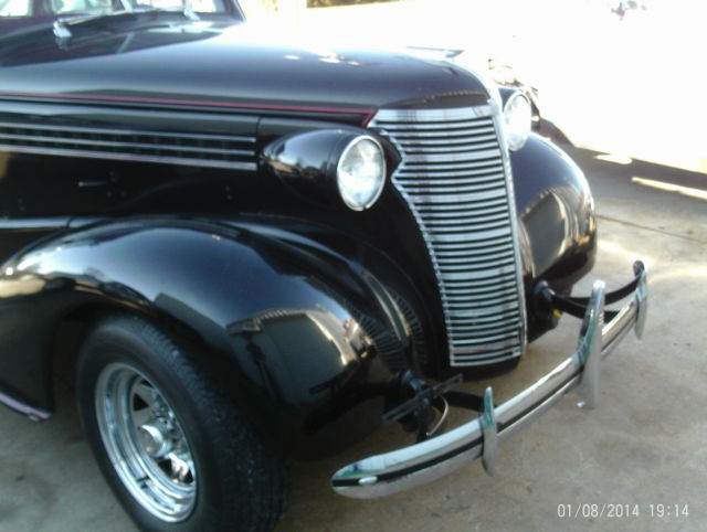 38 chevy master 4 door, clean, solid car, runs great, black
